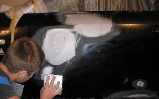 Как зашпаклевать машину: учимся шпаклевать правильно своими руками
