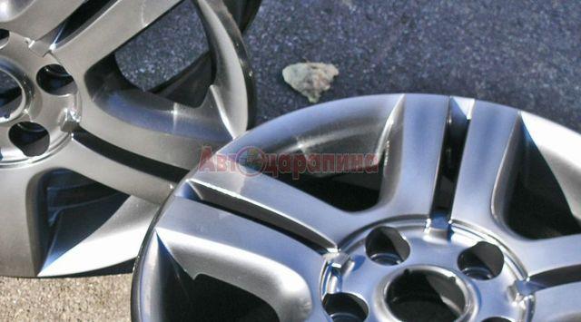 Как удалить царапины с диска авто: этапы ремонта