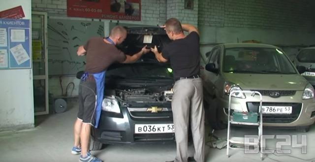 Удаление вмятин от града на авто: ремонт своими руками