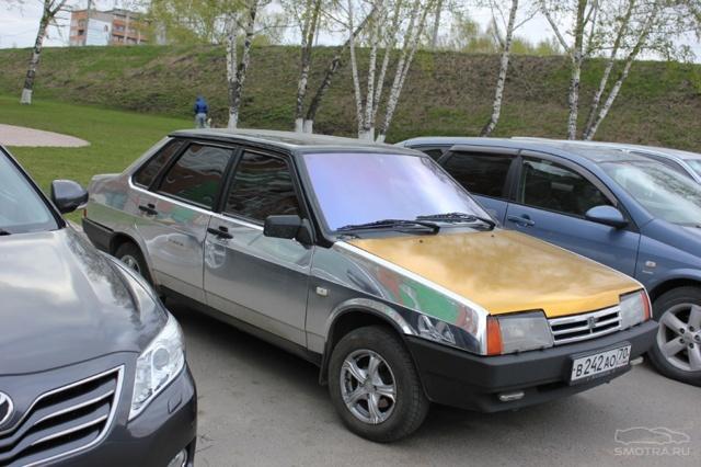 Пленка на лобовое стекло Хамелеон: нанесение на автомобиль (фото)