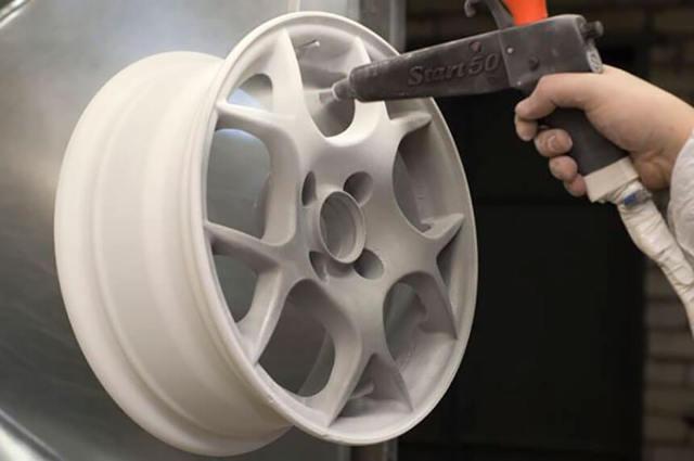 Как покрасить диски порошковой краской своими руками?