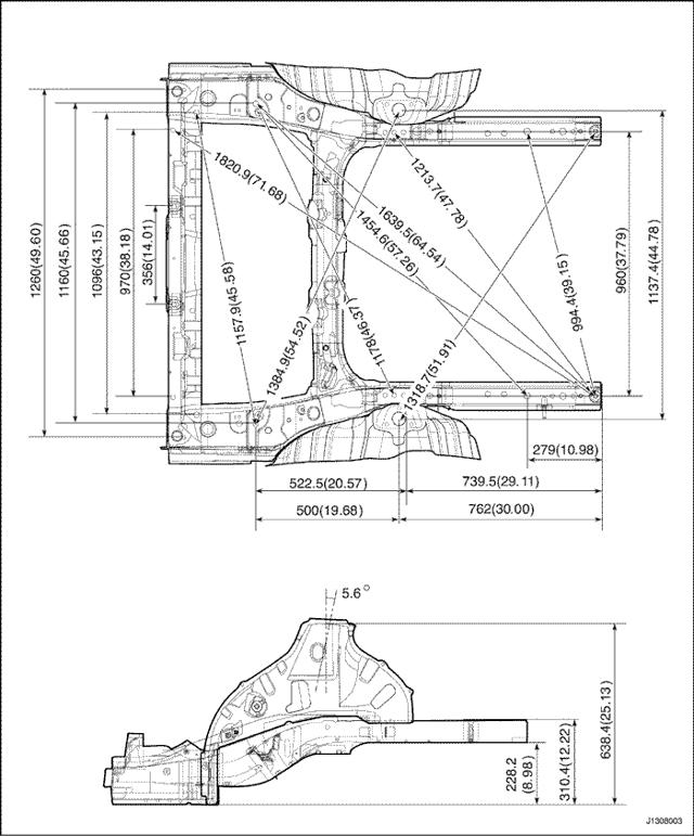 Геометрия кузова Дэу Нексия