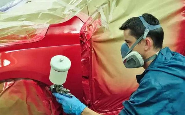 Как покрасить машину без компрессора?