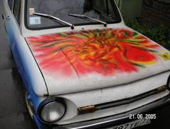 Аэрография Инфинити: этапы росписи автомобиля