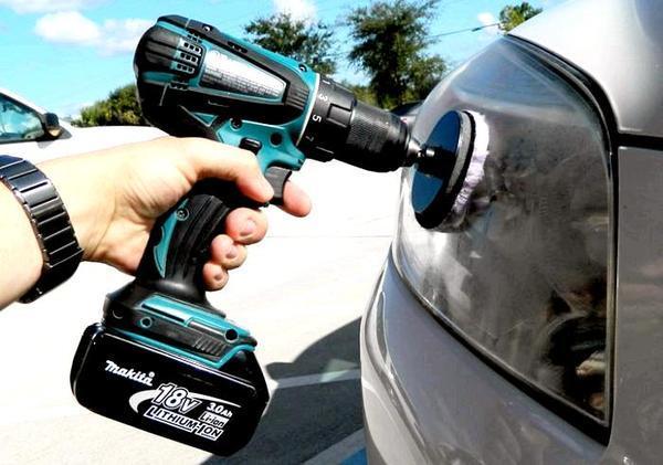 Насадки на дрель для полировки автомобиля