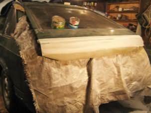 Автошпатлевка со стекловолокном для восстановительного ремонта