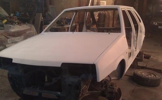 Ремонт (геометрия) кузова ВАЗ 21099: и покраска автомобиля (видео)