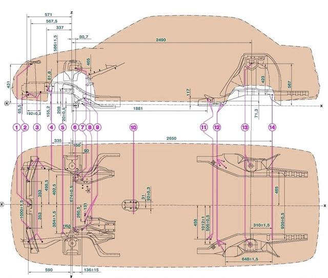 Геометрия кузова ВАЗ 2112 и его ремонт