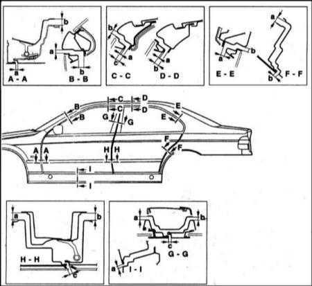 Кузовной ремонт БМВ Е34 и Е39
